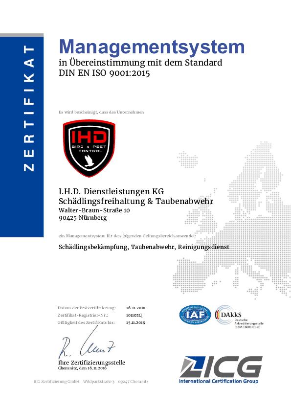 automarder Automarder vertreiben ISO 9001 16